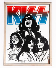 KISS Carnival Mirror - Red and Blue Logo