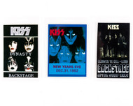 KISS Laminate - Miscellaneous Reproduction Passes, set of 3