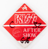 KISS Backstage Pass - Hot in the Shade After Show, Red