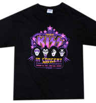 KISS T-Shirt - KISS In Concert, purple, (size XL)