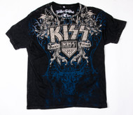 KISS T-Shirt - Double Platinum with rhinestones, (size XL)