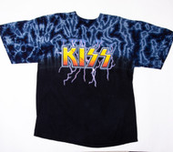 KISS T-Shirt - Blue Lightning Logo, (size XL)