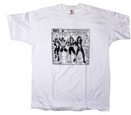 KISS T-Shirt - Comic white, (size XL)