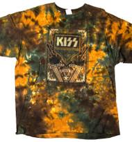 KISS T-Shirt - Tie Dye KISS Army Gold DRC 76, (size 2XL)