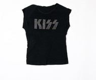 KISS T-Shirt - Rhinestone Logo Sleeveless, FEMALE JUNIOR, (size L)