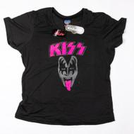 KISS T-Shirt - Lick it Up Gene Face, FEMALE JUNIOR, (size 2XL)
