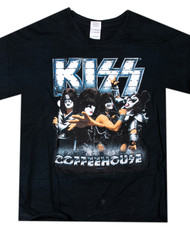 KISS T-Shirt - KISS Coffee House, Coffee that Rocks , (size XL)