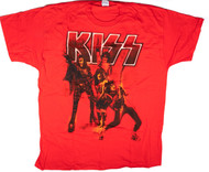 KISS T-Shirt - Cherry Red Alive!, (size 2XL).