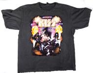 KISS T-Shirt - Alive! World Domination dark grey, (size XL).