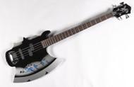 KISS Guitar - Gene Simmons Axe Bass Guitar w/hard shell case