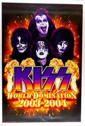 KISS Poster - World Domination 2003-2004, flames