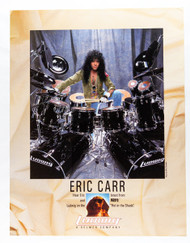 KISS Poster - Eric Carr Ludwig, Hot in the Shade 1990