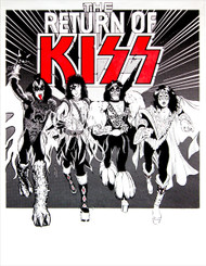 KISS Poster, Return of KISS, (recent modern printing)