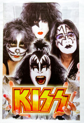 KISS Poster - Gold Logo, 2003