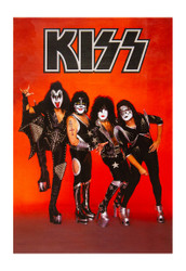 KISS Poster - World Domination Red, store give-away