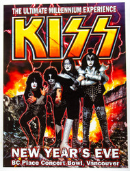 KISS Poster - The Millennium Concert, New Years Eve 1999, Vancouver