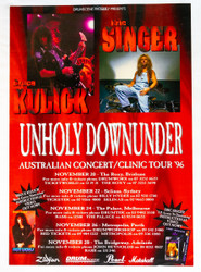 KISS Poster - Bruce and Eric Down Under 1996