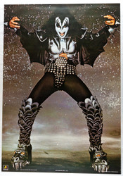 KISS Poster - Gene Sparkle Background