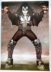 KISS Poster - Gene Sparkle Background, (tack holes)