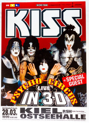 KISS Poster - Psycho Circus Live in 3-D, Germany
