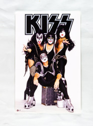 KISS Poster -  World Domination 2003, white background