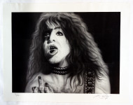 KISS Poster - Paul B&W Lithograph