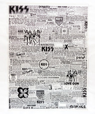 KISS Poster - Text Collage