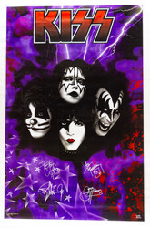 KISS Poster - Purple Stars, retail 1997