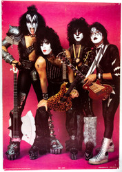 KISS Poster - Creatures, red, no border, (tack holes, 8/10)
