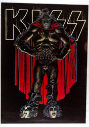 KISS Poster - Dragon Head/Gene Boots 1978, (tape on back)