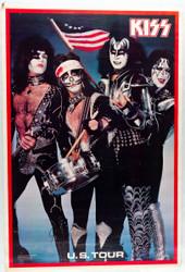 "KISS Poster - Spirit of '76, original 1976 printing, (1"" tear, 7/10)"