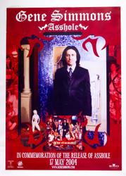 KISS Poster - Gene Simmons Asshole promo