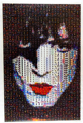 KISS Poster - Photo Mosaic, Paul, (Spiro 2000 version).