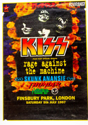 KISS Poster - Kaos in the Park, Finsbury Park London 1997, (5/10)