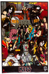 KISS Poster - KISS Cartoon Collage, 1994