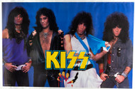 KISS Poster - Animalize blue background, 1985, (8/10)
