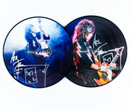 KISS Autographs - Ace Frehley Greatest Hits Live, DOUBLE picture disc, DOUBLE signature