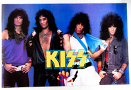 KISS Poster - Asylum Group Shot 1986, blue background