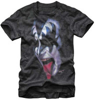 KISS T-Shirt - Gene Head and Tongue, profile, (SIZE L)