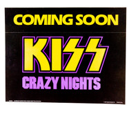 KISS Poster - Crazy Nights, Coming Soon promo 1987