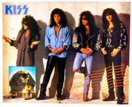 KISS Poster - Hot in the Shade 1989, store promo, (tack holes, 8/10)