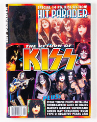 KISS Magazine - Hit Parader, The Return of KISS 1996, (Paul hologram)