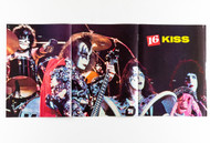 KISS Poster - 16 Magazine, 3 page Dynasty, (tack holes)