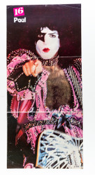 KISS Poster - 16 Magazine, 3 page Paul Stanley, (tack holes, 7/10)