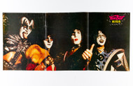 KISS Poster - Teen Beat Magazine, 3 page Unmasked Group, (tack holes, 6/10)