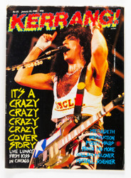 KISS Magazine - Kerrang, January 1988, Paul, (7/10)
