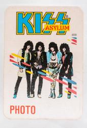 KISS Backstage Pass - KISS Asylum 1986 Photo, cloth