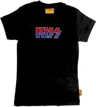 KISS T-Shirt -  Metal Studded Junior's Girl's, (size L)