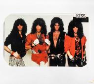 KISS Rectangular Button - Lick it up, (2.75 inch wide)