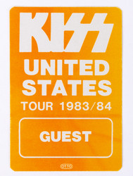KISS Sticker - United States Tour 83/84, (reproduction)